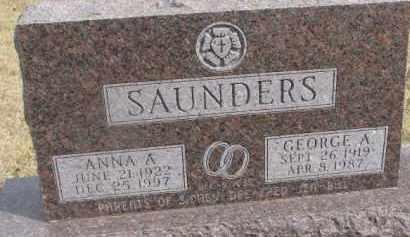 SAUNDERS, ANNA A. - Dixon County, Nebraska | ANNA A. SAUNDERS - Nebraska Gravestone Photos