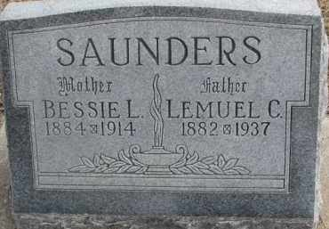 SAUNDERS, BESSIE L. - Dixon County, Nebraska   BESSIE L. SAUNDERS - Nebraska Gravestone Photos