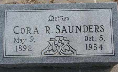SAUNDERS, CORA R. - Dixon County, Nebraska | CORA R. SAUNDERS - Nebraska Gravestone Photos
