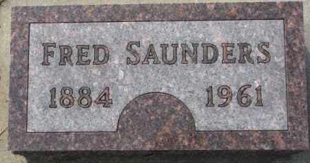 SAUNDERS, FRED - Dixon County, Nebraska | FRED SAUNDERS - Nebraska Gravestone Photos