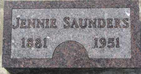 SAUNDERS, JENNIE - Dixon County, Nebraska | JENNIE SAUNDERS - Nebraska Gravestone Photos