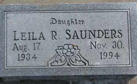 SAUNDERS, LEILA R. - Dixon County, Nebraska | LEILA R. SAUNDERS - Nebraska Gravestone Photos