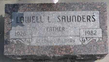 SAUNDERS, LOWELL L. - Dixon County, Nebraska   LOWELL L. SAUNDERS - Nebraska Gravestone Photos