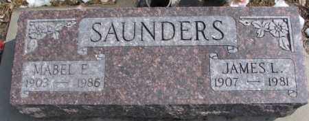 SAUNDERS, JAMES L. - Dixon County, Nebraska | JAMES L. SAUNDERS - Nebraska Gravestone Photos