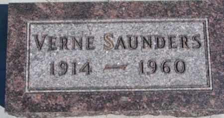 SAUNDERS, VERNE - Dixon County, Nebraska   VERNE SAUNDERS - Nebraska Gravestone Photos