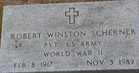 SCHERNER, ROBERT WINSTON ( WWII MARKER) - Dixon County, Nebraska | ROBERT WINSTON ( WWII MARKER) SCHERNER - Nebraska Gravestone Photos