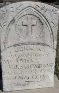 SCHINDLER, JOHN A. - Dixon County, Nebraska | JOHN A. SCHINDLER - Nebraska Gravestone Photos