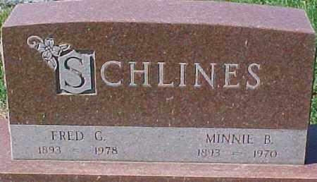 SCHLINES, FRED G. - Dixon County, Nebraska | FRED G. SCHLINES - Nebraska Gravestone Photos