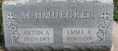 SCHMUECKER, ANTON A. - Dixon County, Nebraska | ANTON A. SCHMUECKER - Nebraska Gravestone Photos