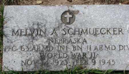 SCHMUECKER, MELVIN A. (WW II MARKER) - Dixon County, Nebraska   MELVIN A. (WW II MARKER) SCHMUECKER - Nebraska Gravestone Photos