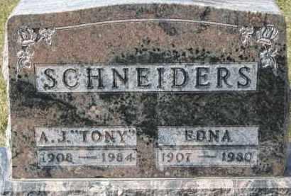 "SCHNEIDERS, A.J. ""TONY"" - Dixon County, Nebraska | A.J. ""TONY"" SCHNEIDERS - Nebraska Gravestone Photos"