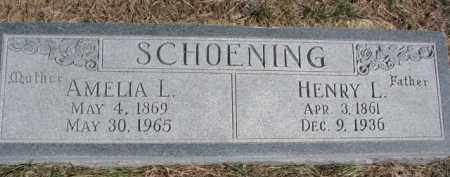 SCHOENING, AMELIA L. - Dixon County, Nebraska | AMELIA L. SCHOENING - Nebraska Gravestone Photos
