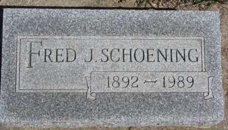 SCHOENING, FRED J. - Dixon County, Nebraska   FRED J. SCHOENING - Nebraska Gravestone Photos