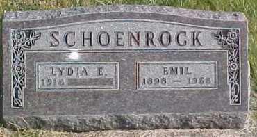 SCHOENROCK, LYDIA E. - Dixon County, Nebraska | LYDIA E. SCHOENROCK - Nebraska Gravestone Photos
