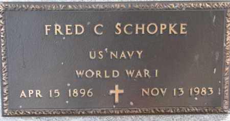 SCHOPKE, FRED C. (WW I MARKER) - Dixon County, Nebraska   FRED C. (WW I MARKER) SCHOPKE - Nebraska Gravestone Photos