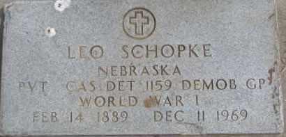 SCHOPKE, LEO (WW II MARKER) - Dixon County, Nebraska | LEO (WW II MARKER) SCHOPKE - Nebraska Gravestone Photos