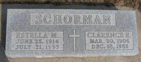 SCHORMAN, ESTELLA M. - Dixon County, Nebraska | ESTELLA M. SCHORMAN - Nebraska Gravestone Photos