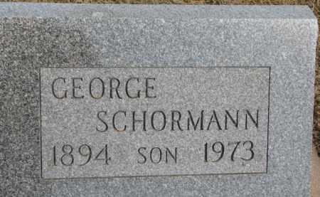 SCHORMANN, GEORGE - Dixon County, Nebraska | GEORGE SCHORMANN - Nebraska Gravestone Photos