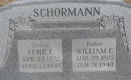 SCHORMANN, SENE F. - Dixon County, Nebraska | SENE F. SCHORMANN - Nebraska Gravestone Photos