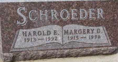 SCHROEDER, HAROLD E. - Dixon County, Nebraska | HAROLD E. SCHROEDER - Nebraska Gravestone Photos