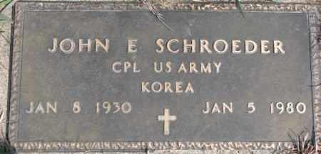 SCHROEDER, JOHN E. - Dixon County, Nebraska | JOHN E. SCHROEDER - Nebraska Gravestone Photos