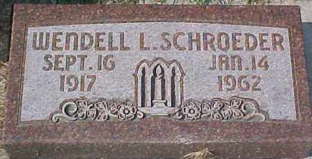 SCHROEDER, WENDELL L - Dixon County, Nebraska   WENDELL L SCHROEDER - Nebraska Gravestone Photos