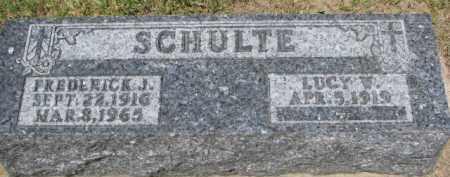 SCHULTE, LUCY W. - Dixon County, Nebraska | LUCY W. SCHULTE - Nebraska Gravestone Photos