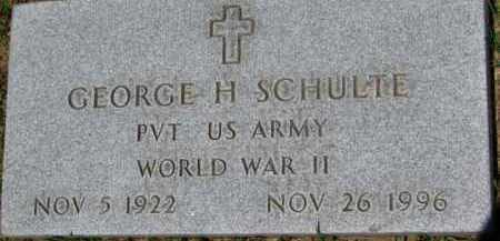 SCHULTE, GEORGE H. (WW II MARKER) - Dixon County, Nebraska | GEORGE H. (WW II MARKER) SCHULTE - Nebraska Gravestone Photos