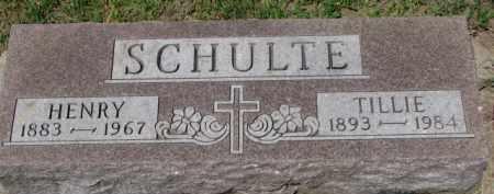 SCHULTE, HENRY - Dixon County, Nebraska | HENRY SCHULTE - Nebraska Gravestone Photos