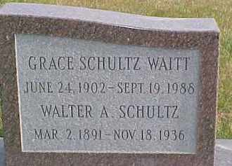 SCHULTZ, GRACE - Dixon County, Nebraska | GRACE SCHULTZ - Nebraska Gravestone Photos