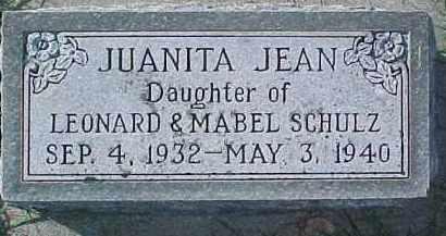 SCHULZ, JUANITA JEAN - Dixon County, Nebraska | JUANITA JEAN SCHULZ - Nebraska Gravestone Photos
