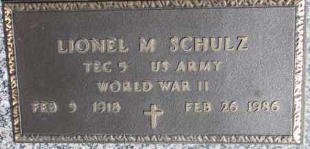 SCHULTZ, LIONEL M. - Dixon County, Nebraska | LIONEL M. SCHULTZ - Nebraska Gravestone Photos