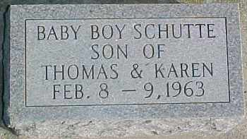 SCHUTTE, INFANT - Dixon County, Nebraska   INFANT SCHUTTE - Nebraska Gravestone Photos
