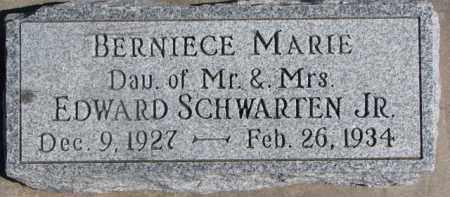 SCHWARTEN, BERNIECE MARIE - Dixon County, Nebraska | BERNIECE MARIE SCHWARTEN - Nebraska Gravestone Photos