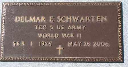 SCHWARTEN, DELMAR E. (WW II MARKER) - Dixon County, Nebraska   DELMAR E. (WW II MARKER) SCHWARTEN - Nebraska Gravestone Photos