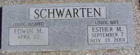 SCHWARTEN, ESTHER M. - Dixon County, Nebraska | ESTHER M. SCHWARTEN - Nebraska Gravestone Photos