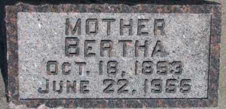 SCHWARTZ, BERTHA - Dixon County, Nebraska   BERTHA SCHWARTZ - Nebraska Gravestone Photos