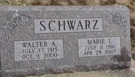 SCHWARZ, WALTER A. - Dixon County, Nebraska | WALTER A. SCHWARZ - Nebraska Gravestone Photos