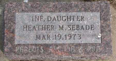 SEBADE, HEATHER M. - Dixon County, Nebraska | HEATHER M. SEBADE - Nebraska Gravestone Photos