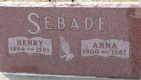 SEBADE, ANNA - Dixon County, Nebraska | ANNA SEBADE - Nebraska Gravestone Photos