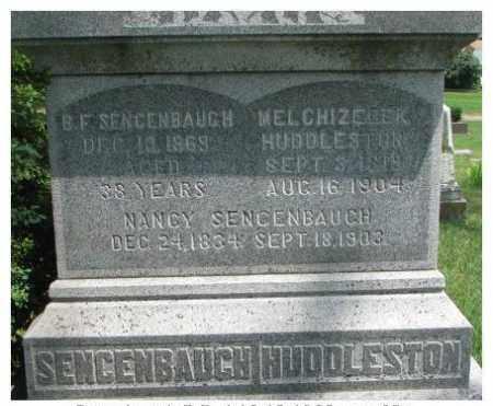 SENCENBAUGH, B.F. - Dixon County, Nebraska | B.F. SENCENBAUGH - Nebraska Gravestone Photos