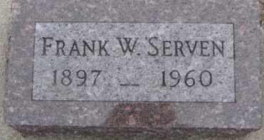 SERVEN, FRANK W. - Dixon County, Nebraska | FRANK W. SERVEN - Nebraska Gravestone Photos