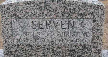 SERVEN, CHRISTINE - Dixon County, Nebraska   CHRISTINE SERVEN - Nebraska Gravestone Photos