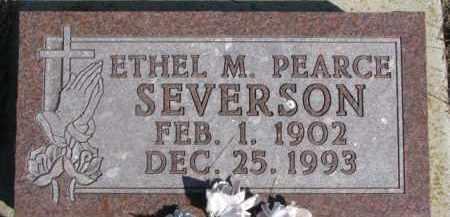 PEARCE SEVERSON, ETHEL M. - Dixon County, Nebraska   ETHEL M. PEARCE SEVERSON - Nebraska Gravestone Photos