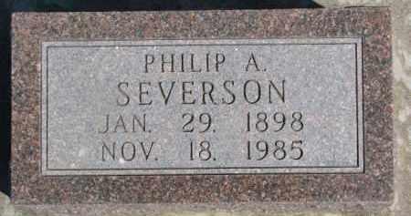 SEVERSON, PHILIP A. - Dixon County, Nebraska | PHILIP A. SEVERSON - Nebraska Gravestone Photos