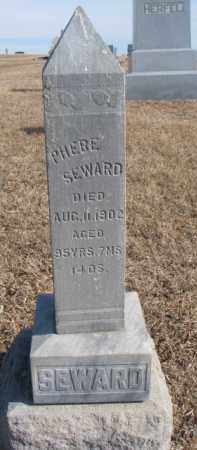 SEWARD, PHEBE - Dixon County, Nebraska | PHEBE SEWARD - Nebraska Gravestone Photos