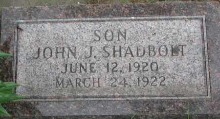 SHADBOLT, JOHN J. - Dixon County, Nebraska | JOHN J. SHADBOLT - Nebraska Gravestone Photos