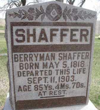 SHAFFER, BERRYMAN - Dixon County, Nebraska | BERRYMAN SHAFFER - Nebraska Gravestone Photos