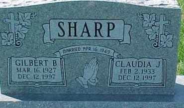 SHARP, CLAUDIA JEAN - Dixon County, Nebraska | CLAUDIA JEAN SHARP - Nebraska Gravestone Photos
