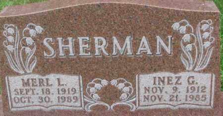 SHERMAN, MERL L. - Dixon County, Nebraska | MERL L. SHERMAN - Nebraska Gravestone Photos